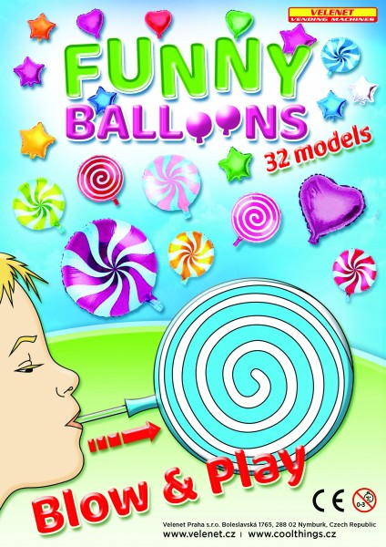 Funny Balloons 90mm